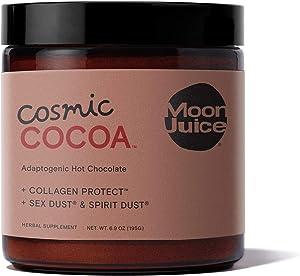 Moon Juice - Cosmic Cocoa - Mushroom Based Adaptogenic Hot Chocolate for Mood & Libido - Cacao, Ashwagandha, Shatavari, Reishi & Edible Hyaluronic Acid - Vegan, Non-GMO, Gluten-Free (6.9oz)