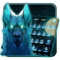 Blue Ice Wolf keyboard Theme