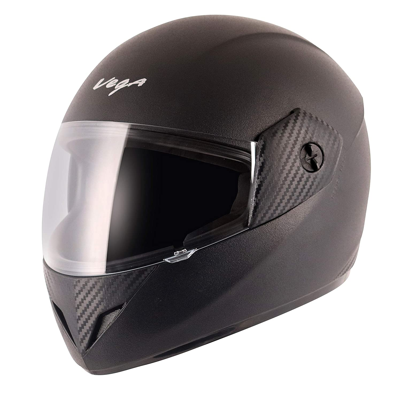 Vega Cliff CLF-LK-M Full Face Helmet (Black, M): Amazon.in: Car & Motorbike