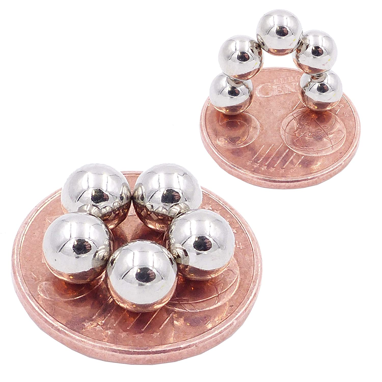 magneti in neodimio Ultra potenti magneti per modellismo 15 Mini Magneti Sfera da 10mm N38 Brudazon Piccoli ed Extra potenti Foto lavagne magnetiche