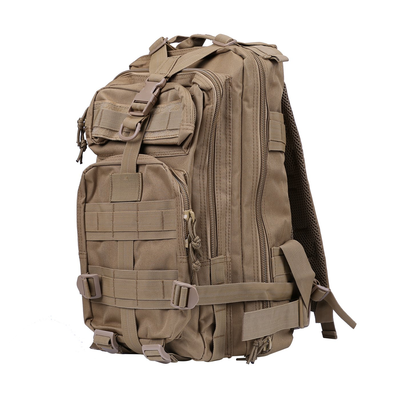 Camping Trekking and Traveling Hiking HDE Military Tactical Backpack Expandable Small Lightweight Assault Pack 20L MOLLE Combat Bug Out Bag for Outdoors