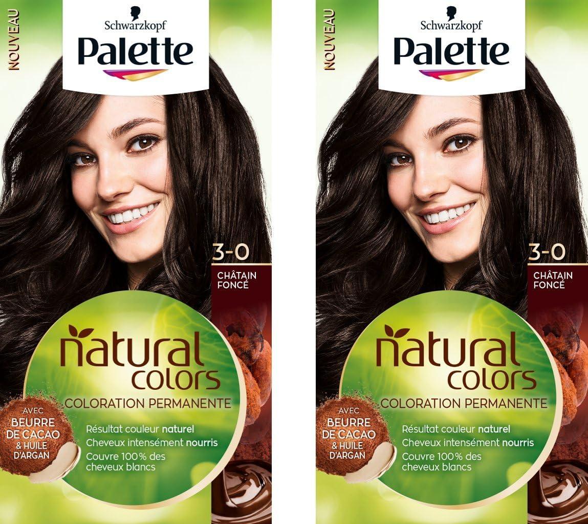 Palette Natural Colors - Coloración para el cabello 3-0, 50 ...