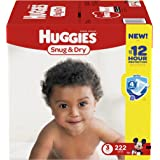Huggies Snug & Dry Diapers, Size 3, 222 Count (One Month Supply)