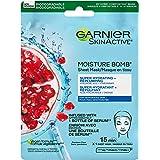 Garnier Beauty Face Mask, Replumping Skin Care for Dehydrated Skin, Hyaluronic Acid + Pomegranate, 1 Tissue Mask (32mL)