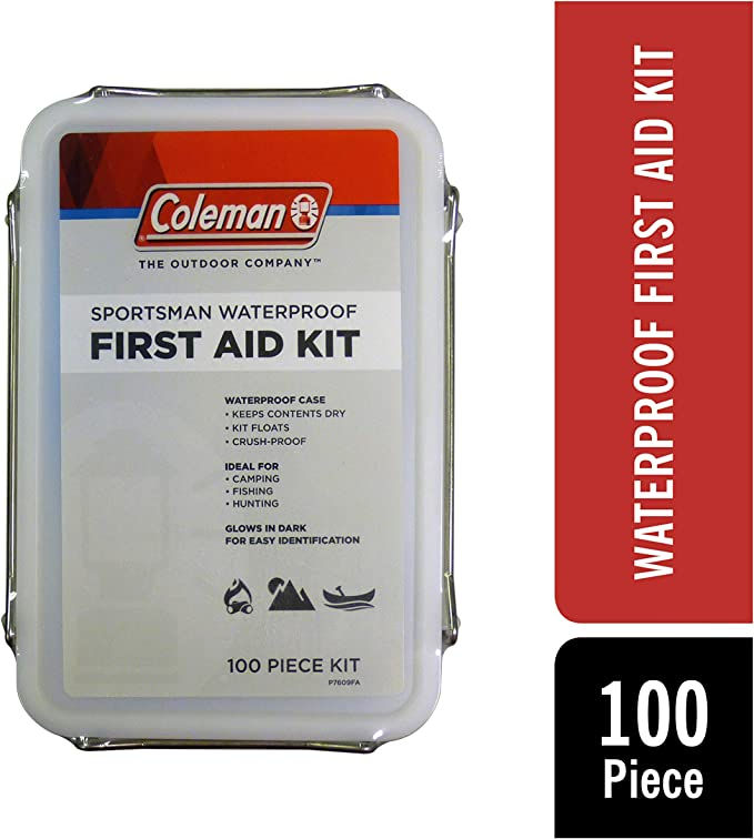 Coleman Sportsman Waterproof Outdoor First Aid Kit - 100 Pieces best boating accessories