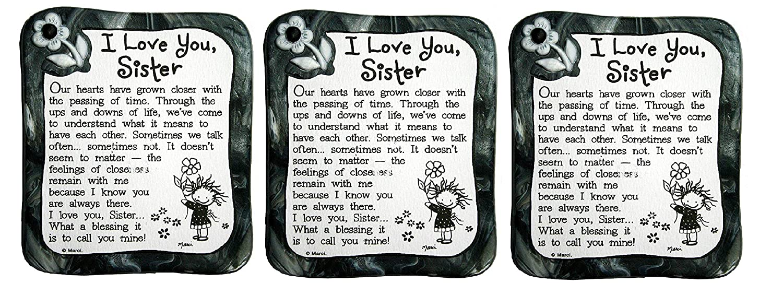 Sculpted Magnet: I Love You Sister, 3.0