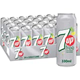 7up Free, Carbonated Soft Drink, Cans, 24 x 330 ml