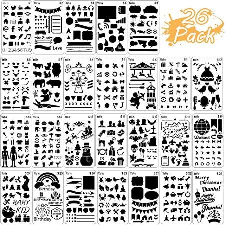 Template Stencil Lettering Guide Letters Planer Greeting Cards Scrapbooking; Dreamsicle Alphabet; Adult Coloring Books Bible Journaling