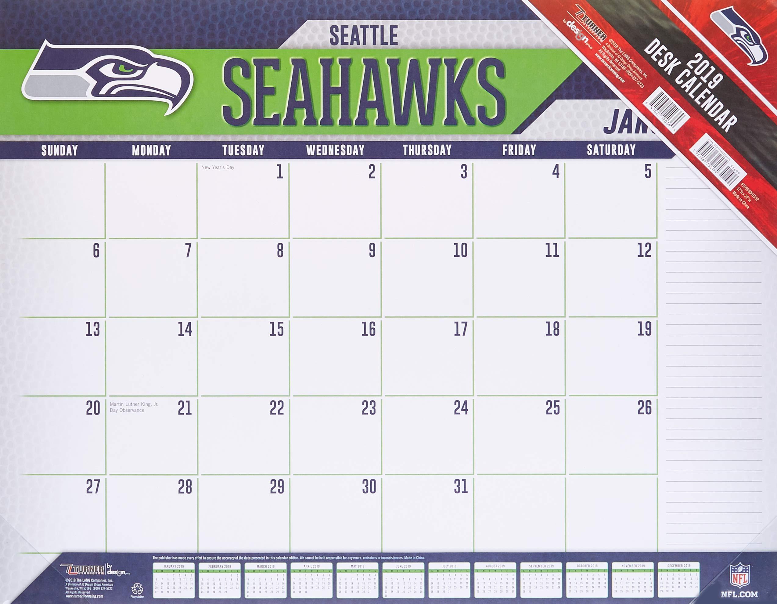 Seahawks Calendar 2019 Seattle Seahawks 2019 Calendar: Lang Holdings Inc.: 9781469356174