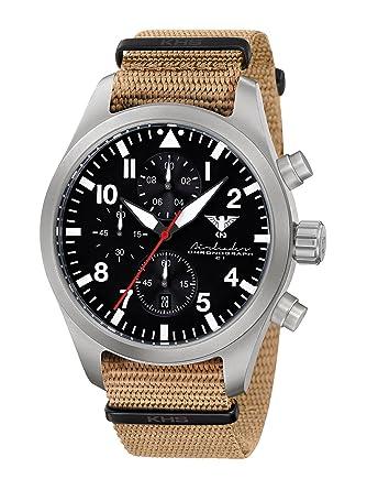 NT Acero Inoxidable, OTAN banda Tan, khs-21 Tactical Watch, Reloj, táctico militar reloj, Planeador Reloj: Amazon.es: Relojes