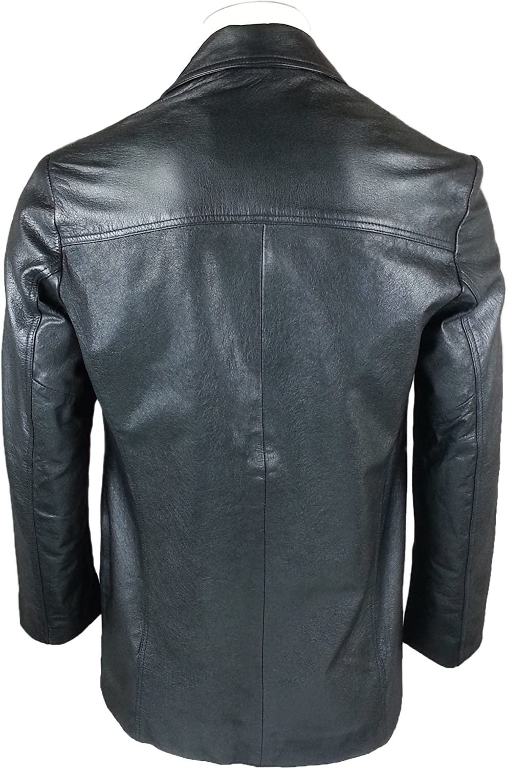 UNICORN Mens Real Leather Jacket Classic Fitted Style Suit Blazer Black GT # T9 (XXL): Amazon.ca: Clothing & Accessories