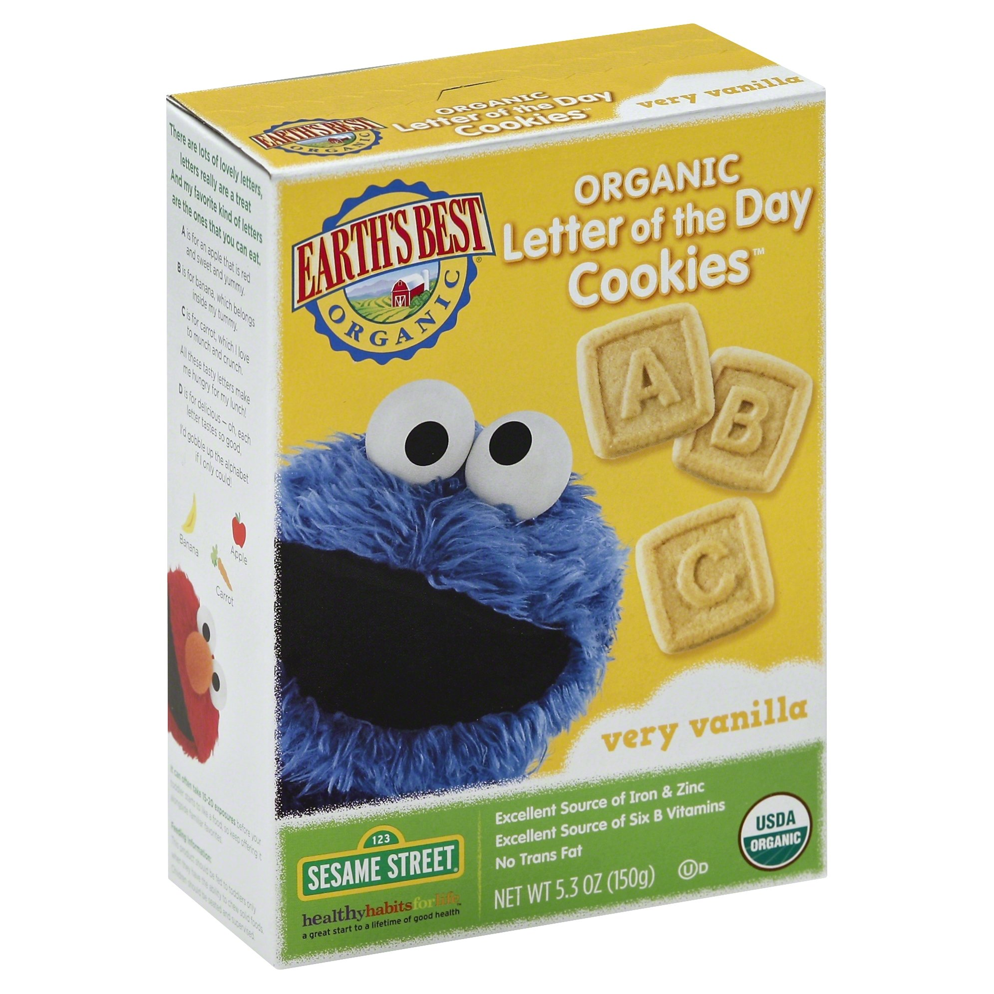 Earth s Best Organic Letter of the Day Cookies Oatmeal Cinnamon