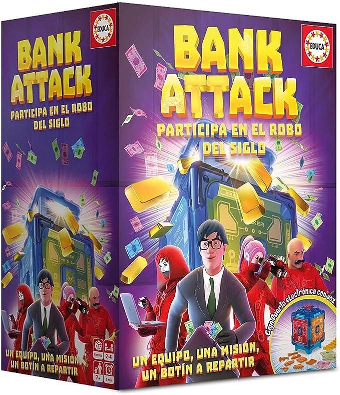Educa-Borrás- Bank Attack Juego de Mesa, Color versión española ...