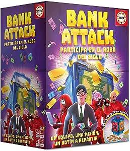 Educa-Borrás- Bank Attack Juego de Mesa, Color versión española (18349) , color/modelo surtido: Amazon.es: Juguetes y juegos