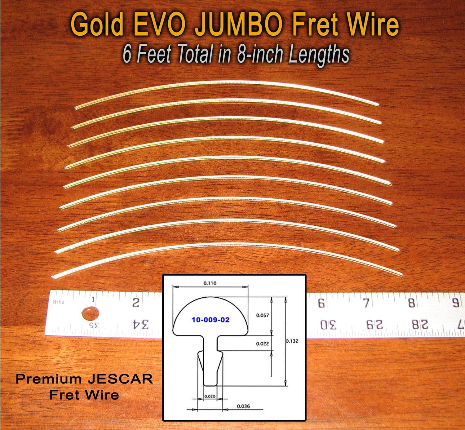 Guitar/Bass Fret Wire - Jescar Gold JUMBO Size - Six Feet 4334244486