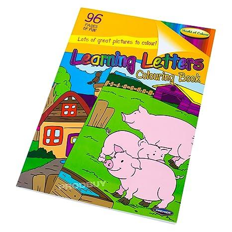 Apprendimento Lettere A4 96 Pagine Da Colorare Per Bambini In Book