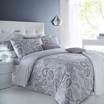 Sleep Down Bettwäsche Set Für Super Kingsize Betten Baumwolle Grau