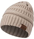 Diravo Warm Cable Knit Beanie Soft Winter Stretch Chunky Beanie Hats for Women and Men