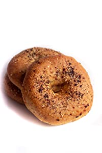 Low Carb Everything Bagels (3 Bagels) - Fresh Baked, All Natural, Sugar Free, High Protein, Diabetic Friendly, Low Carb Bagels