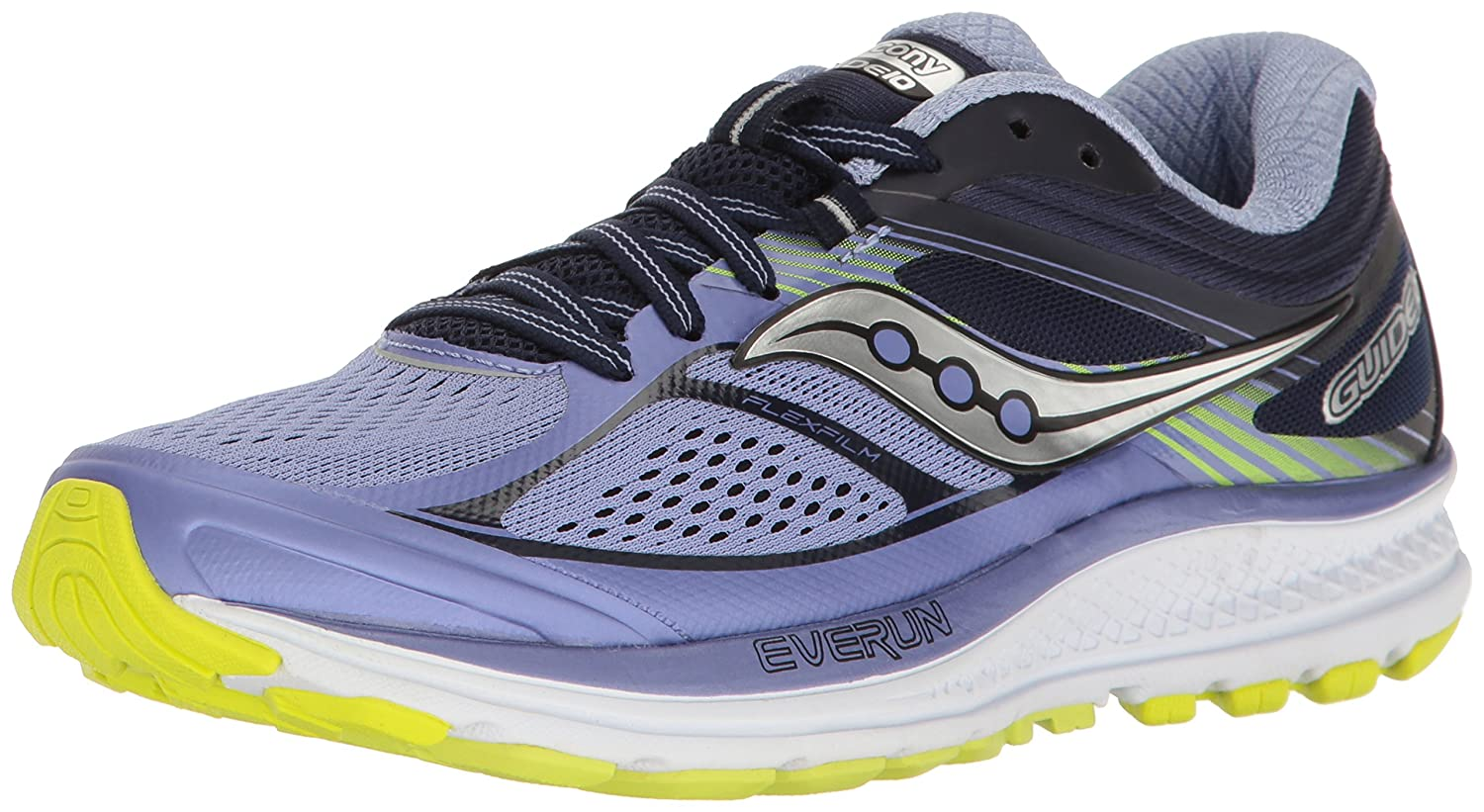 Saucony Women's Guide 10 Running Shoe B01N9KCJWZ 5.5 B(M) US|Purple Navy