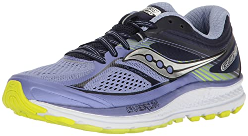 c955737ee4 Saucony Women's Guide 10 Running Shoe, Purple Navy, 5. 5 Medium US ...