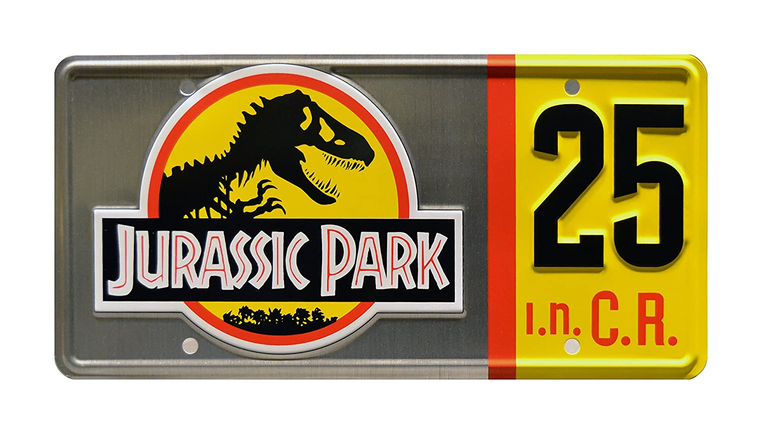 Jurassic Park | 25th Anniversary Silver Edition | Metal Stamped Vanity License Plate Celebrity Machines