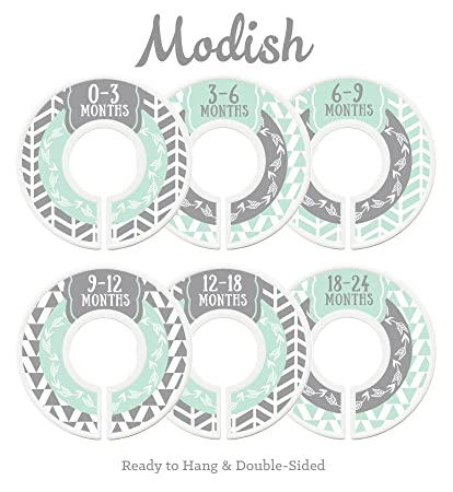Modish Labels Baby Nursery Closet Dividers, Closet Organizers, Nursery  Decor, Gender Neutral,