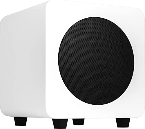 Kanto SUB6 6-inch Powered Subwoofer, Matte White