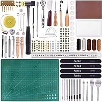 FEPITO 58 piezas de cuero herramientas de artesanía