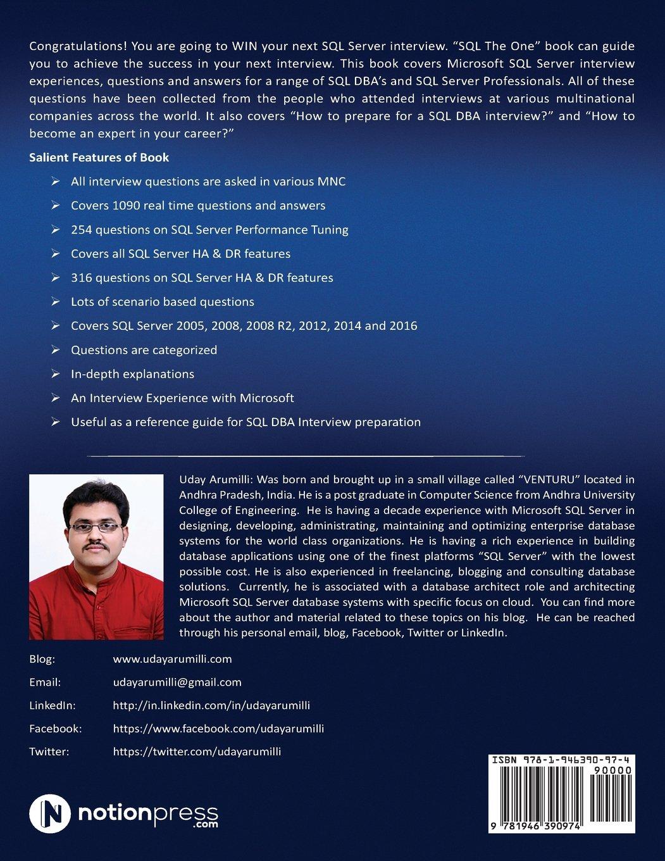 SQL the One: Microsoft SQL Server Interview Guide: Amazon co uk