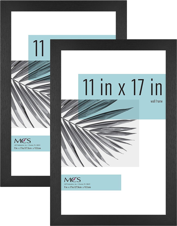 MCS Industries 63781 11x17 Inch 2-Pack, Black Woodgrain Studio Gallery Frame, 11x17, 2 Count
