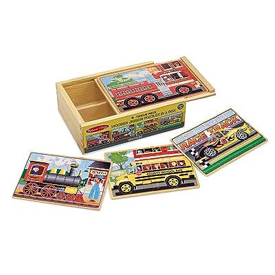 Melissa & Doug Wooden Jigsaw Puzzles in a Box - Vehicles: Melissa & Doug: Toys & Games