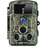 "APEMAN Wildkamera 1080P Full HD Jagdkamera Gartenkamera 120°Breite Vision Infrarote 20m Nachtsicht 2.4"" LCD Tierbeobachtungskamera"