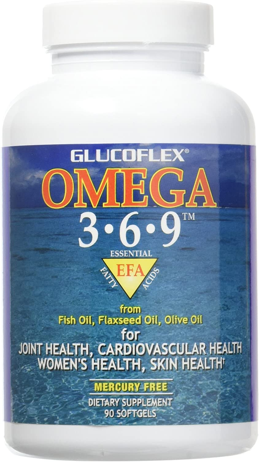 Amazon Com Glucoflex Omega 3 6 9 Omegas From Epa Dha Fish Oil