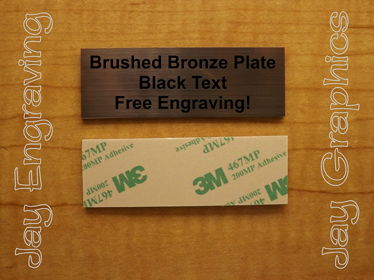 Custom Engraved 1x3 Brushed Gold Tag Sign PlatePersonalized Trophy Plaque