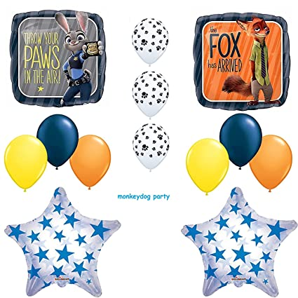 Amazon 13pc ZOOTOPIA New BALLOON Set PARTY Birthday ANY