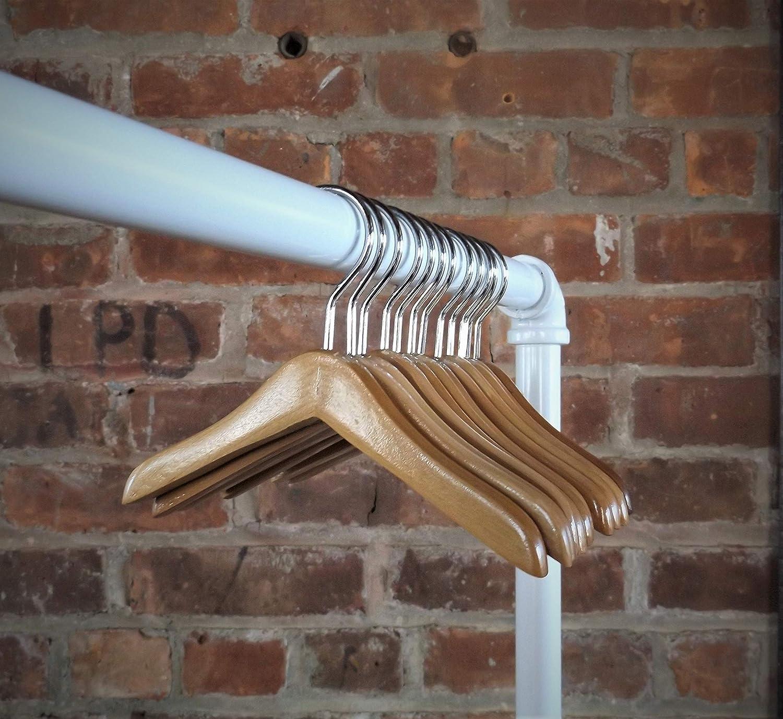 10Pcs Doll Hanger Wooden Hangers Mini Solid Smooth Hangers Non-Slip Bar Hangers