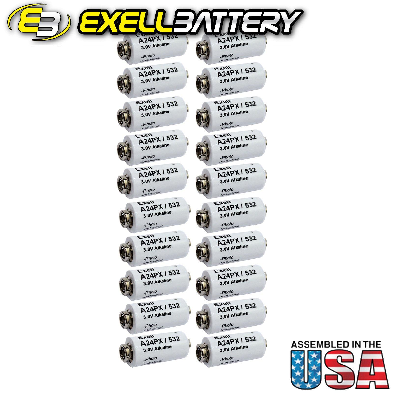 20pc Exell A24PX 3V Alkaline Battery V24PX RPX24 532 PX24 EPX24 2LR50