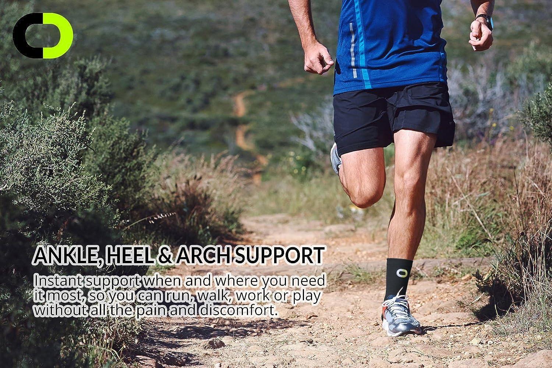 2fef54dffc ... Ankle Brace Compression Support Sleeve (1 Pair) - BEST Ankle  Compression Socks for Plantar ...