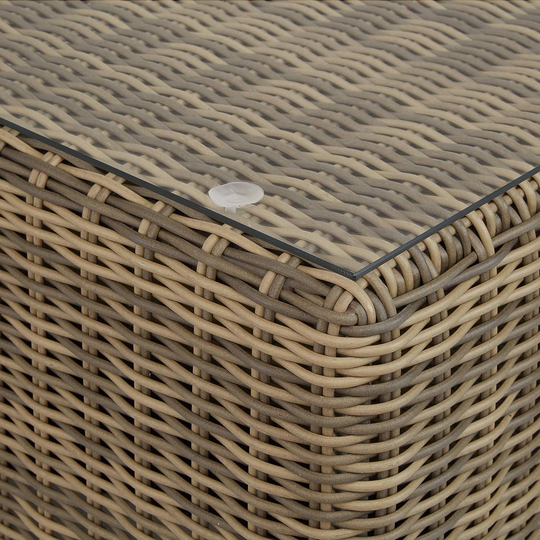 Muebles de Jard/ín Gris | No. 403169 Cojines Incl Multifunci/ón TecTake 800694 Sill/ón Doble de Rat/án Aluminio Combinaci/ón Vers/átil con Mesa