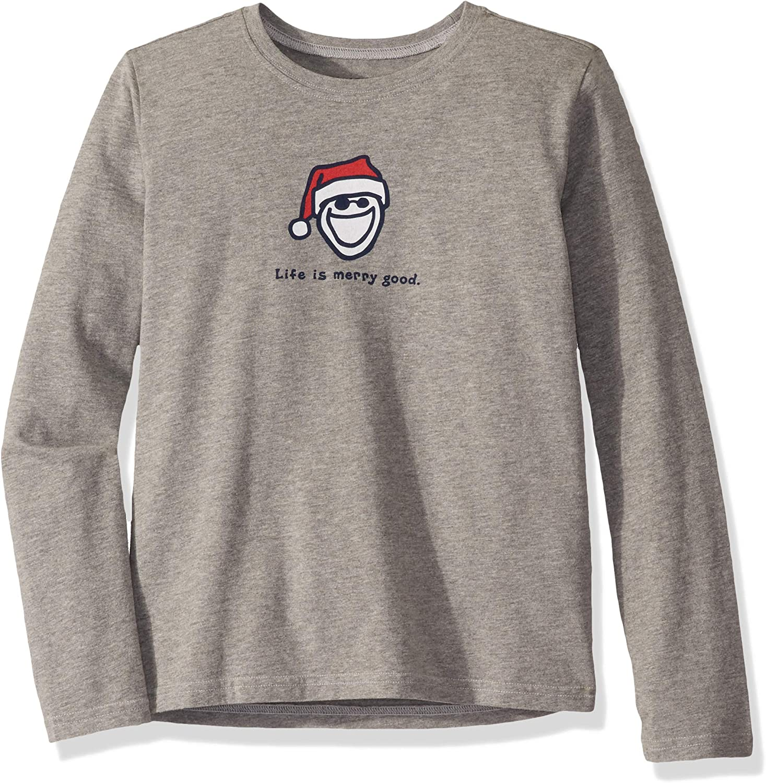 Life is Good Boys Vintage Crusher Longsleeve Holiday T-Shirt