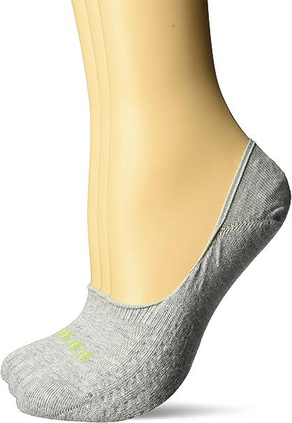 New Hue Women/'s Low Cut No Show Socks Shoe 9-12 White//Grey 6 Pair #732J