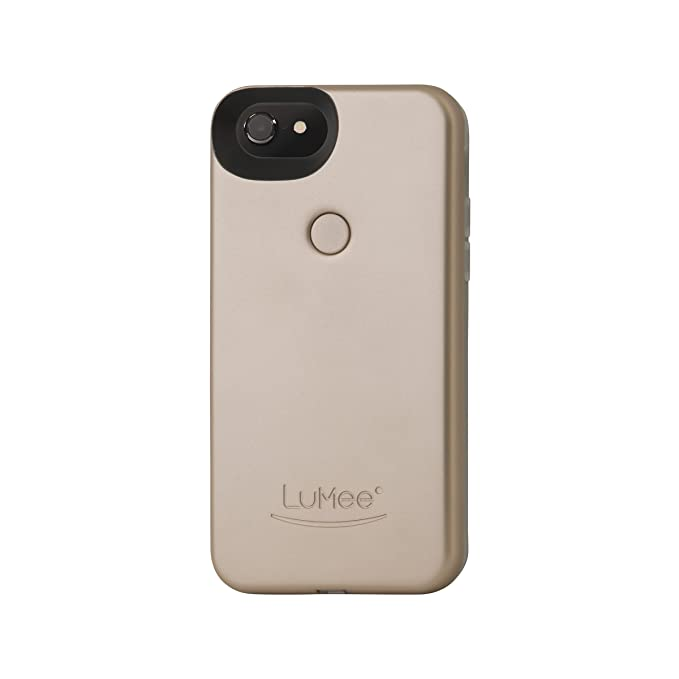 info for e93b9 97369 LuMee Two Selfie Phone Case, Gold Matte | LED Lighting, Variable Dimmer |  Shock Absorption, Bumper Case | iPhone 8 / iPhone 7 / iPhone 6s / iPhone 6