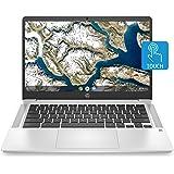 HP Chromebook 14-inch HD Touchscreen Laptop, Intel Celeron N4000, 4 GB RAM, 32 GB eMMC, Chrome (14a-na0030nr, Mineral Silver)