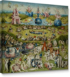 Niwo ART - The Garden of Earthly Delights, World's Most Famous Paintings Series, Canvas Wall Art Home Decor, Gallery Wrapped, Stretched, Framed Ready to Hang