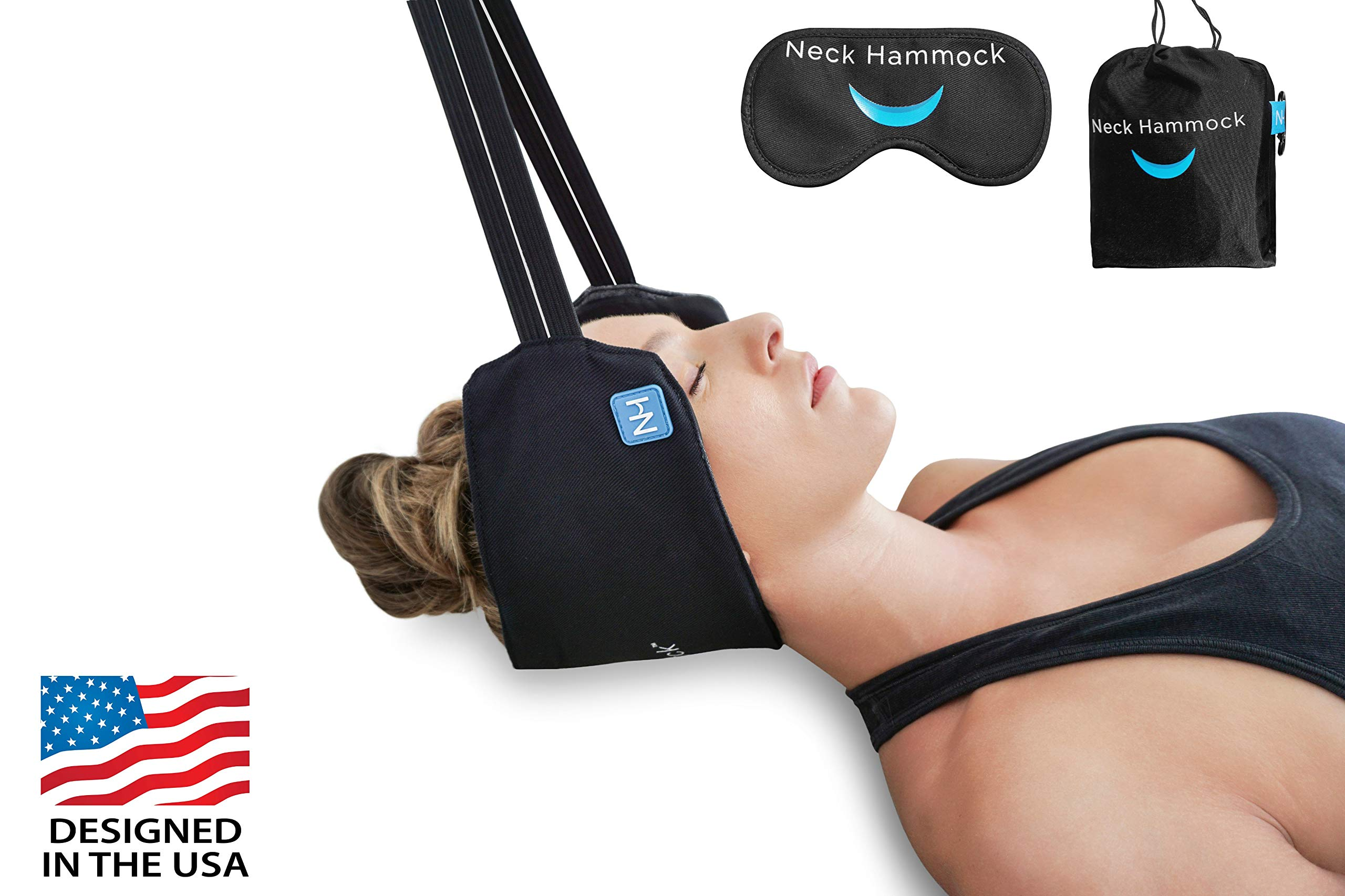 The Neck Hammock 2.0 - The Original Portable Cervical Traction and Relaxation Device. Easily Attach to Any Door or Railing for Chronic Neck Pain Relief in 10 Minutes or Less