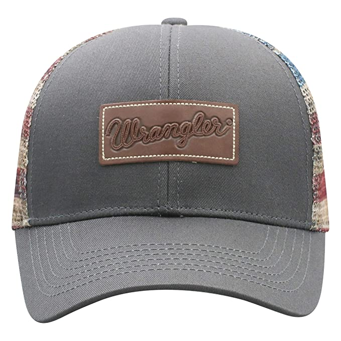 a3c044bd8 Wrangler American Flag Mesh Adjustable Snapback Hat