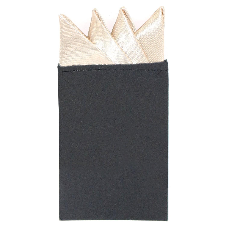Mens Pre-Folded Triangular Satin Wedding Pocket Square
