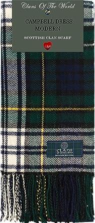 Campbell of Argyll Modern Tartan Clan Scarf 100/% Soft Lambswool