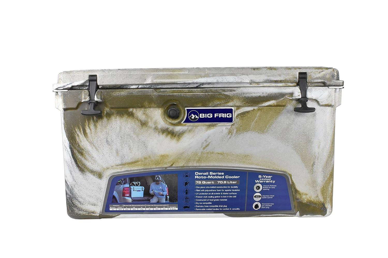 Big Frig Desert Camo Denali Cooler (75 Quart) Bundle includes Cutting Board/Divider, Basket, 5 Year Limited Warranty